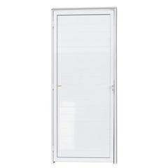 Porta Direita com Lambri em Alumínio Super 25 210x100cm Branca - Brimak