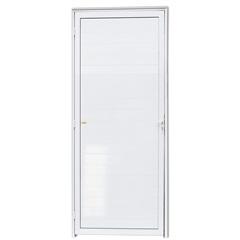 Porta Direita com Lambri em Alumínio Super 25 210x80cm Branca - Brimak