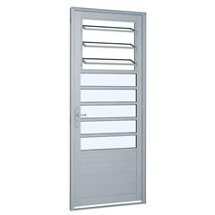 Porta Direita com Lambri Horizontal E 3 Básculas Alumifort 216x88cm Branca - Sasazaki