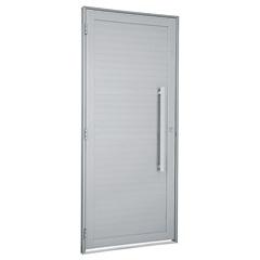Porta Direita com Lambri Horizontal E Puxador Alumifort 216x88cm Branca - Sasazaki