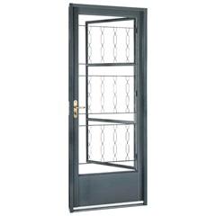 Porta Direita com Postigo E Grade Elo Belfort 217x87cm Cinza - Sasazaki