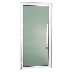 Porta Direita com Puxador em Alumínio Super 25 Murano 210x100cm Branca - Brimak