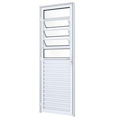 Porta Direita com Travessa E Báscula Ideale 215x85cm Branco - Lucasa