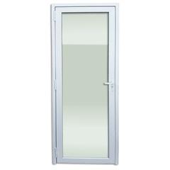 Porta Direita com Vidro Temperado em Pvc 216x80cm Branca - Brimak