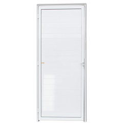 Porta Direita em Alumínio com Lambris Super 25 210x80cm Branca - Brimak