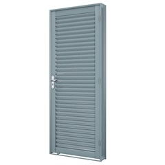 Porta Direita Laminada Premium 215x76cm Cinza - Lucasa