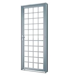 Porta Direita Quadrada Premium 215x86cm Cinza - Lucasa