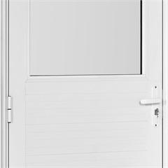 Porta em Alumínio Direita Vidro Grande Mini Boreal Una Branca 210x90cm - Casanova