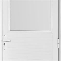 Porta em Alumínio Esquerda Vidro Grande Mini Boreal Una Branca 210x90cm - Casanova