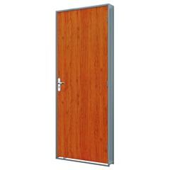 Porta em Duraplac Direita com Batente em Aço 215x85cm Mogno E Cinza - Riobras