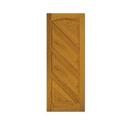 Porta em Madeira Maciça Magna Eucalipto 210x82cm Marrom - Cruzeiro