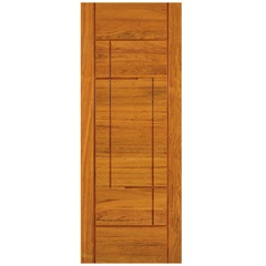 Porta em Madeira Maciça Neo Moderne Eucalipto 210x82cm Natural - Cruzeiro