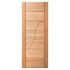 Porta em Madeira Maciça Neo Sublime Eucalipto 210x82cm Natural - Cruzeiro