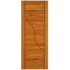 Porta em Madeira Maciça Neo Sublime Eucalipto 210x92cm Natural - Cruzeiro