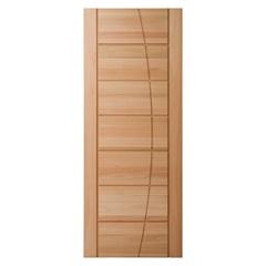 Porta em Madeira Maciça Seleta Eucalipto 210x92cm Natural - Cruzeiro