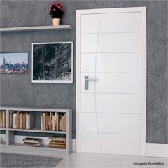 Porta em Mdf Pré Pintada Elegance 210x80cm Branca - Vert