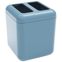 Porta Escova Cube 10,5x8,5cm Azul Fog - Coza