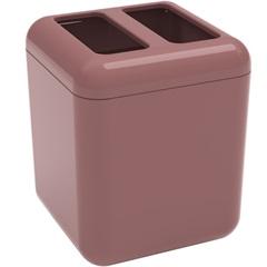 Porta Escova Cube 10,5x8,5cm Rosa Malva - Coza