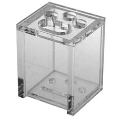 Porta Escova de Dentes Quadrado Cristal - Formacril