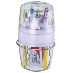 Porta Escovas E Pasta de Dentes com Fixação por Sucção - Arthi