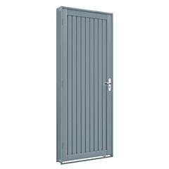 Porta Esquerda Calha Premium 215x86cm Cinza - Lucasa