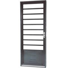 Porta Esquerda com Divisão Horizontal Belfort 217x87x12cm Cinza - Sasazaki