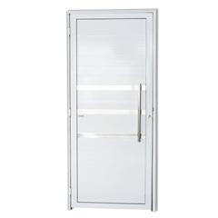 Porta Esquerda com Friso E Puxador em Alumínio Super 25 210x100cm Branca - Brimak