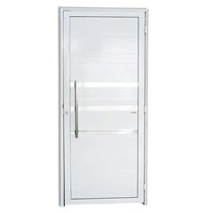 Porta Esquerda com Friso E Puxador em Alumínio Super 25 210x90cm Branca - Brimak