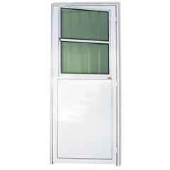 Porta Esquerda com Lambri E Postigo em Alumínio Super 25 210x86cm Branca - Brimak