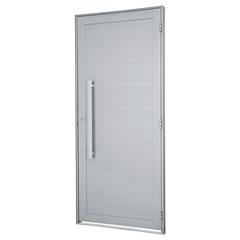 Porta Esquerda com Lambri E Puxador Alumifort 216x88cm Branca - Sasazaki