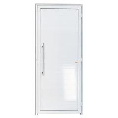 Porta Esquerda com Lambri E Puxador em Alumínio Super 25 210x100cm Branca - Brimak