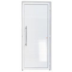 Porta Esquerda com Lambri E Puxador em Alumínio Super 25 210x90cm Branca - Brimak