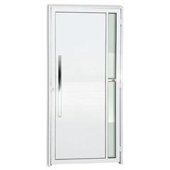 Porta Esquerda com Lambri E Puxador em Alumínio Super 25 Visione 210x100cm Branca - Brimak