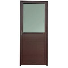 Porta Esquerda com Lambri E Vidro em Alumínio Super 25 210x90cm Cortem - Brimak