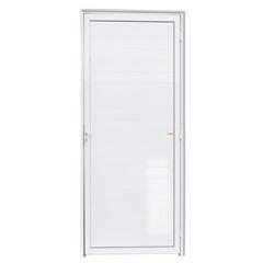 Porta Esquerda com Lambri em Alumínio Super 25 210x100cm Branca - Brimak