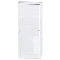 Porta Esquerda com Lambri em Alumínio Super 25 210x80cm Branca - Brimak