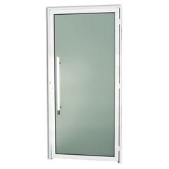 Porta Esquerda com Puxador em Alumínio Super 25 Murano 210x100cm Branca - Brimak