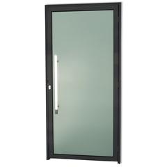 Porta Esquerda com Puxador em Alumínio Super 25 Murano 210x100cm Preta - Brimak