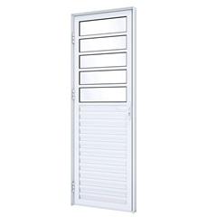 Porta Esquerda com Travessa E Ventilação Eccellente 215x85cm Branca - Lucasa