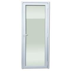 Porta Esquerda com Vidro Temperado em Pvc 216x80cm Branca - Brimak