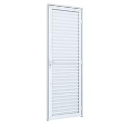 Porta Esquerda Laminada Ideale 215x85cm Branco - Lucasa
