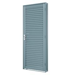 Porta Esquerda Laminada Premium 215x86cm Cinza - Lucasa