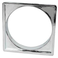 Porta Grelha Quadrada 10cm Cromada - Garaplas
