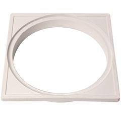 Porta Grelha Quadrada 15cm Branca - Garaplas