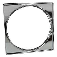 Porta Grelha Quadrada 15cm Cromada - Garaplas