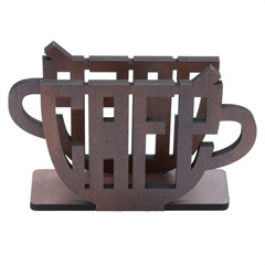 Porta Guardanapo em Madeira Café 11x4cm Quartzo - WoodArt