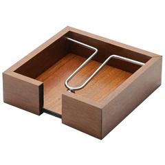 Porta Guardanapo em Madeira com Aramado 15x4,5cm - WoodArt