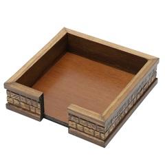 Porta Guardanapo em Madeira Coquinho 15x4,5cm - WoodArt