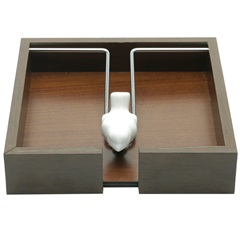 Porta Guardanapo em Madeira Passarinho 20x4,5cm - WoodArt