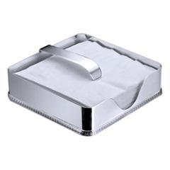 Porta Guardanapo em Prata Liso 18cm - Wolff